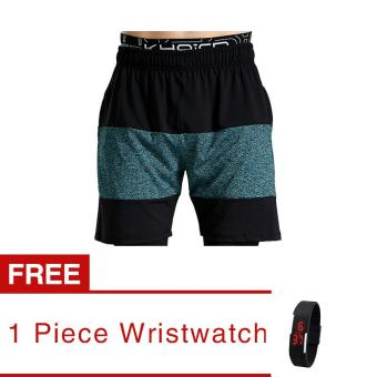 Jiayiqi Men's Sport Shorts Running Fitness Training Summer Pant (buy 1 get 1 freebie) - intl