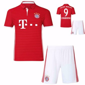 Harga Bayern Football team Home NO.9 Soccer Jersey suits. - intl