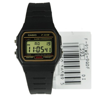 Harga F-91WG-9QDF F-91WG-9Q F-91WG Casio Quartz Digital Alarm Male Watch