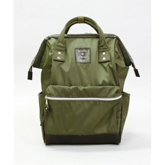 Harga [2017SS] anello × Collective - Nylon Green + PU Black Large Backpack