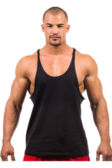 Harga HANG-QIAO Fitness Sports Vest Tank Top Undershirt (Black)
