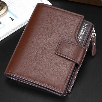 Harga Men Fashion Multi-function Business Leather Wallet Wallet Purse - intl