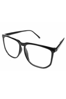 Blue lans Clear Lens Glasses (Black)