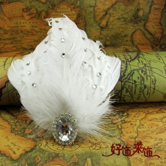 Harga Korean-style diamond white pearl flower head