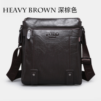 Harga leather man bag shoulder messenger bag
