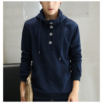 Harga BBB Male hooded tracksuit sweater Blue - intl