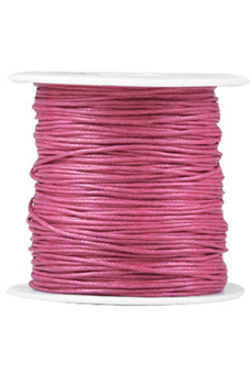 Harga 1 Roll 80M Waxed Cotton Cord Macrame Thread Rope Wire Fit Necklace Bracelet 0.5x0.5mm Rose Red