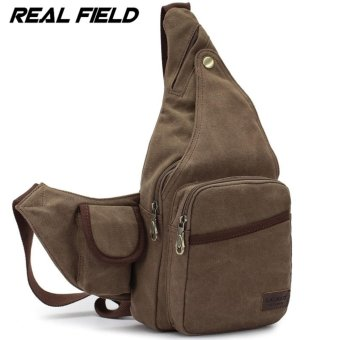 Harga Men Canvas Chest Bag Man Crossbody Shoulder Waist Sling Beg - intl