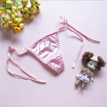 Harga Color Pink Sexy G String Women Lace Transprent Low Waist Thongs Underwear Briefs 0020 - intl