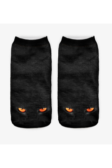 Harga Jetting Buy Unisex Socks 3D Printed Animal Casual Cute Low Cut Black Cat