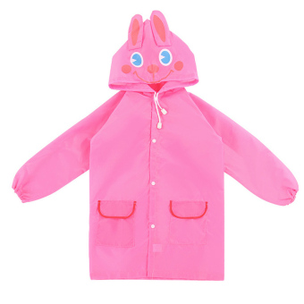 Harga PAlight Kids Cartoon Waterproof Rain Coat (pink)