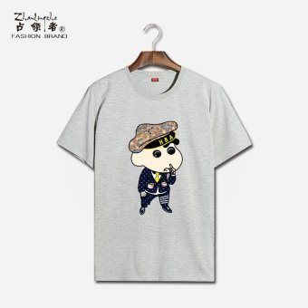 Harga Couple's Crayon Shin-chan print pure cotton short-sleeve t-shirt