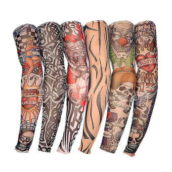 Harga PAlight 6Pcs Nylon Fake tattoo Sunscreen sleeve
