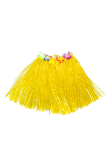 Hawaiian Tropical Hula Luau Grass Dancer Skirt Yellow