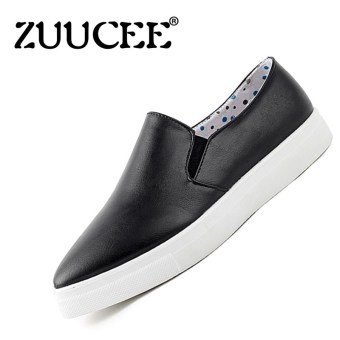 Harga ZUUCEE Women's Fashion Loafer Shoes Casual Shoes Ladies Flat Shoes (Black) - intl