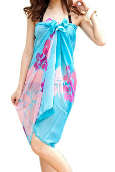 Harga Amango Sarong Cover Up Scarf Dress (Multicolor) (EXPORT)