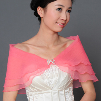 Harga Wedding Bridal Organza Tulle Wrap Shawl