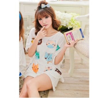 Harga Modal pajamas female cartoon kt cat summer girlfriends tracksuit female models bat shirt shorts suit (Small cat)