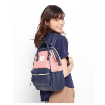 authentic Japan anello backpack (anello x the emporium, limited edition) Japan hot selling (ORANGE / NAVY COLOR)