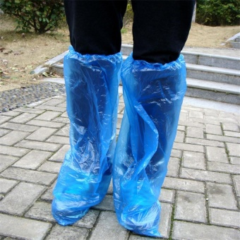 Harga (4 pieces)Outdoor disposable waterproof shoe covers extended overshoes - intl