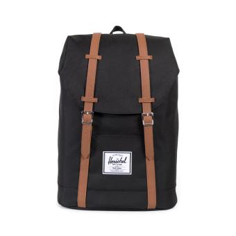 Harga Herschel Supply Co. Retreat Backpack - Black/Tan Synthetic Leather