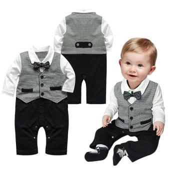 Harga MG Baby Boy Kids Children's Suits Toddler Bowknot Boys Romper Jumpsuit Clothes - intl