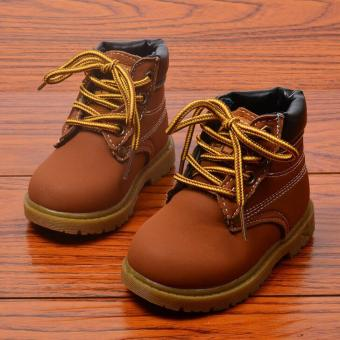 Harga Fashion boys and girls Martin boots(Brown) - intl