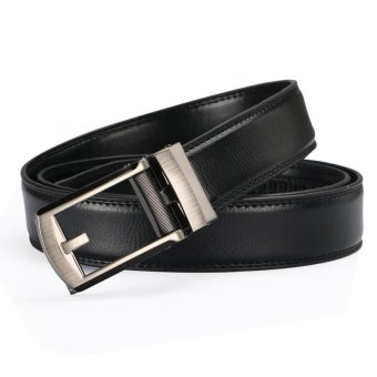 Harga Leather false acupuncture belt automatic buckle belt Comfort Click Belt men's belt - intl
