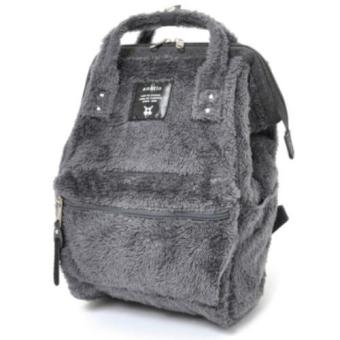 Harga 【Anello】 Authentic Japan Mini Backpack - Polar Bear Alike Fur - Gray