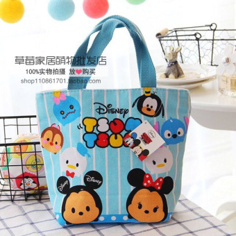 Harga Wholesale cute cartoon melody lazy egg canvas bag shoulder bag female bag portable small bag lunch box lunch bag (Tsum trumpet)