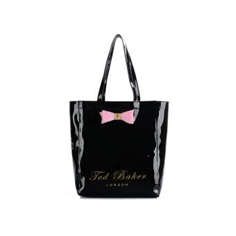 Harga Ted Baker Woman Fashion Tote bag Bowknot waterproof jelly pack ladies handbag (Black) - intl