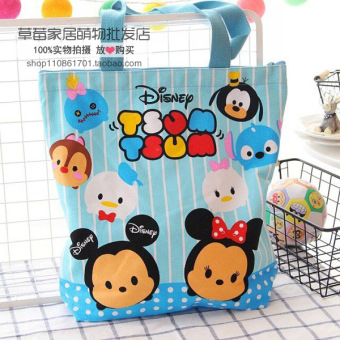 Harga Wholesale cute cartoon melody lazy egg canvas bag shoulder bag female bag portable small bag lunch box lunch bag (Tsum queen)