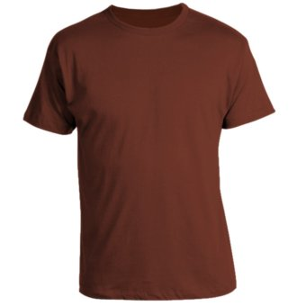 Harga REMME 100% Supima Cotton Round Neck T-Shirt (Brandy Brown)