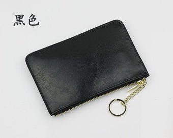 Harga New simple first layer of leather purse female clutch leather small wallet mini wallets coin bag women