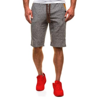 Harga Men's Casual Shorts Dance Jogger Sport Training Gym Short Pants Trousers S-3XL (Dark Grey) - intl