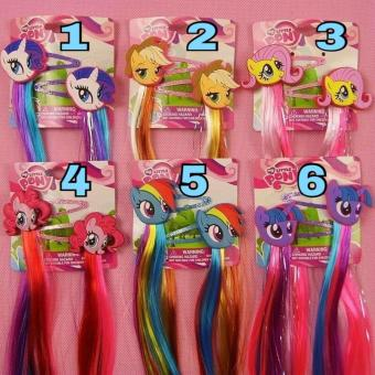 Harga My Little Pony Hair Clip With Colourful Hair Extension Attachment Clip On Children Hair Clip MLP5