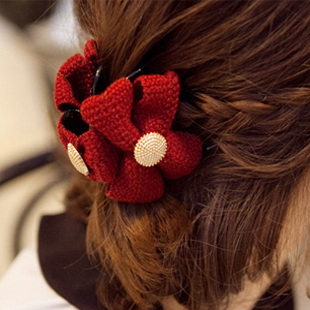 Harga South korean version of the new hair accessories headwear hair clip wool trumpet gripper hairpin clip