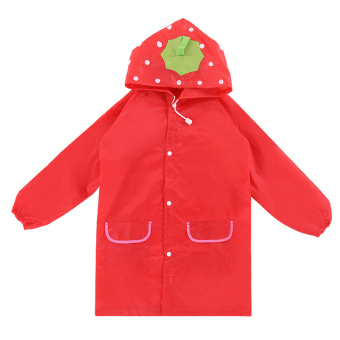 Harga PAlight Kids Cartoon Waterproof Rain Coat (red)