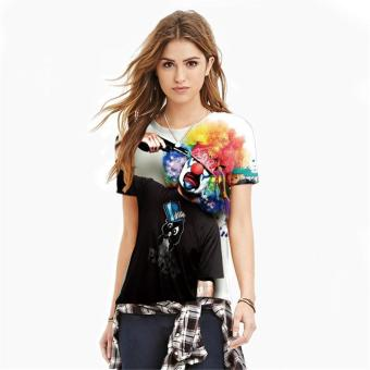 Jiayiqi Ladies Short Sleeve Summer Unusual Clown T Shirts for Women - intl