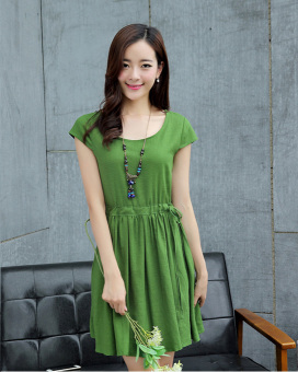 Korean-style female New style Slim fit casual skirt (Green.)