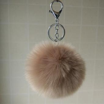 Korean-Style Key Chain Buckle Bag Ornaments Hair Ball Imitation Fox Fur Velvet Pendant Jewelry Small Gift To Send Pendant (Casual Color)