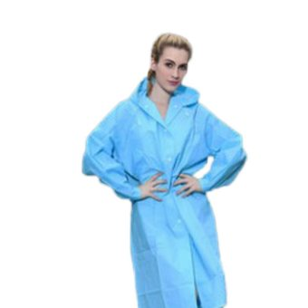 Kuhong Fashion EVA Environment Raincoat For Man Woman Lady Outdoor Rainwear Rain Coat Waterproof Poncho Transparent Blue - intl