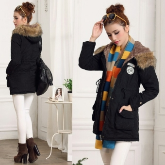 Lady  Women Thicken Warm Winter Coat Hood Overcoat Long Jacket Outwear - Intl