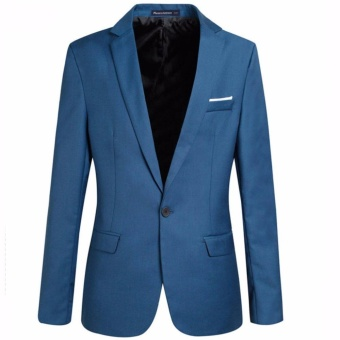 large size(3XL - 6XL)Men's Slim Fit Stylish Casual One Button Suit Coat Jacket Business Blazers Men Coat High Quality Men Blazer - intl