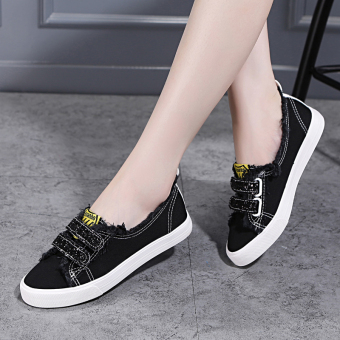 ChicHan version female New sneaker sneakers (Black)