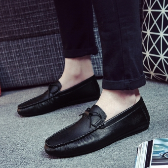Korean-style male New style men's shoes trendy shoes (K60 black)