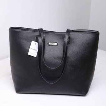 European and American overstock sale large shopper women's bag (Black)