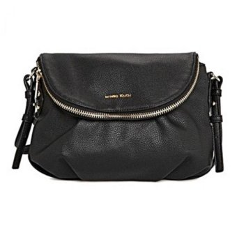 Harga Mango Double Compartment Cross Body Shoulder Sling Bag (Black)