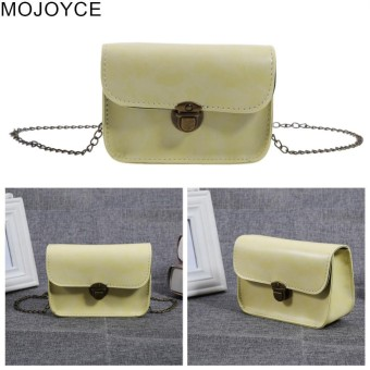 MOJOYCE Woman Retro Chic Mini Chain Bag Buckle Trendy Candy Color Bag - intl
