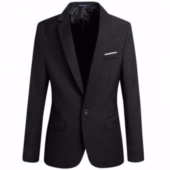 (Multi size: S - 5XL)Men's Slim Fit Stylish Casual One Button Suit Coat Jacket Business Blazers Men Coat High Quality Men Blazer - intl
